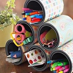 铁罐废物利用,变身笔筒和花盆