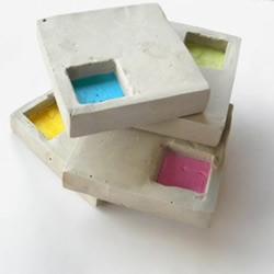 DIY工业风格水泥杯垫