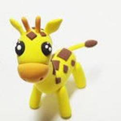 软陶制作长颈鹿公仔的教程