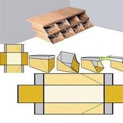 鞋盒改造成简易鞋架的教程