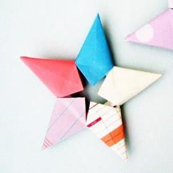 五角星组合折纸教程