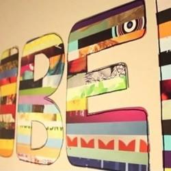 手工DIY字母装饰画的教程