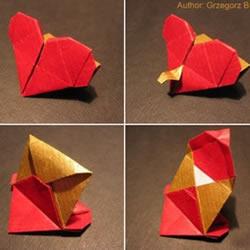 心形表白信封的手工折纸教程