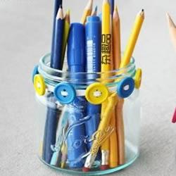 小清新玻璃笔筒的DIY教程