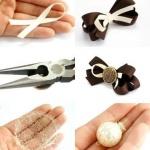 绸带制作发夹的手工教程