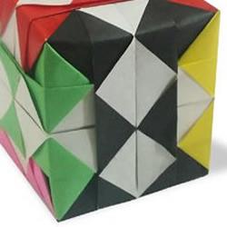 立体魔方组合折纸教程