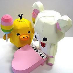 可爱小熊和小鸭子的剪纸教程