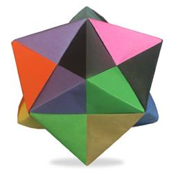 突出状24面体折纸教程