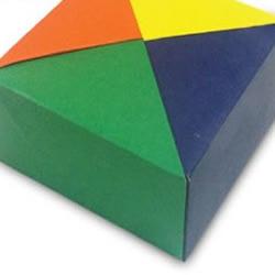 正四角箱组合折纸教程