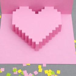 3D立体心形效果贺卡制作教程