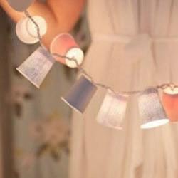 一次性纸杯DIY制作漂亮灯饰的教程