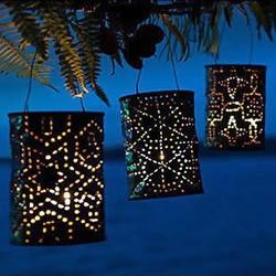 废旧铁罐子手工DIY浪漫灯具的教程