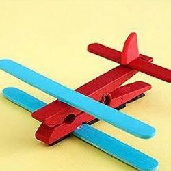 冰棒棍和夹子手工DIY小飞机