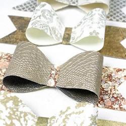 礼品包装蝴蝶结装饰的手工折纸教程