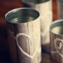 铁罐头和木纹壁纸DIYZAKKA风花瓶的教程