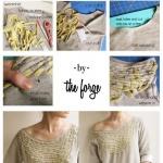 旧T恤和小布条DIY创意时尚T恤的教程