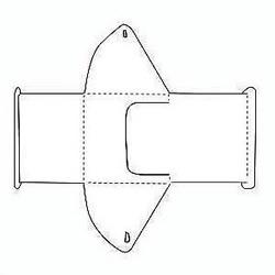 纸质包装盒的折法线框图