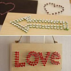 清新可爱标志木牌的手工制作方法