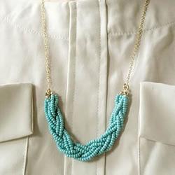 串珠制作漂亮项链挂件的教程