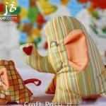 布艺制作可爱大象玩偶的教程