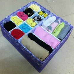 纸板箱DIY制作内衣裤和袜子收纳盒的教程