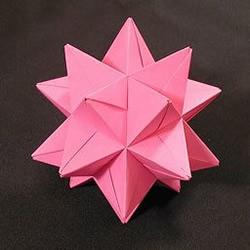复杂几何立体折纸作品欣赏