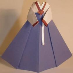 大长今服饰折纸作品欣赏