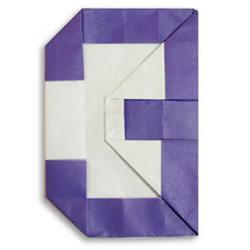 阿拉伯数字折纸作品及方法