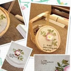 手工刺绣制作古典提篮盖子的方法