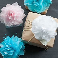 皱纹纸手工制作大花朵的方法