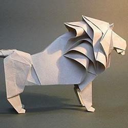 狮子、飞马等折纸作品欣赏