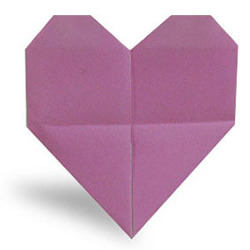 """跳动的""""心""""手工折纸方法"""