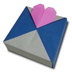 """各种""""心""""形折纸作品欣赏"""