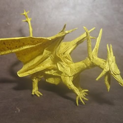 西方飞龙折纸作品欣赏