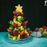 DIY水果圣诞树 超有趣的水果拼盘制作
