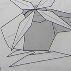直升飞机的手工折纸方法