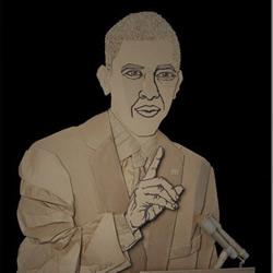 纸板手工制作的人物肖像