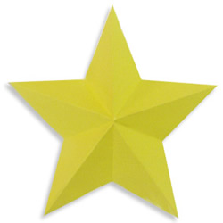 五角星、六角星折纸方法