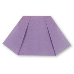 迷你学生短裙折纸方法