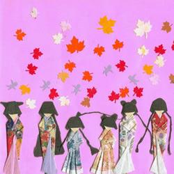 日本和服小纸人书签的折纸教程