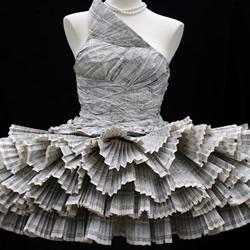 电话簿手工制作的礼服