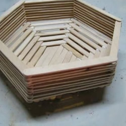 冰棍棒手工制作篮子
