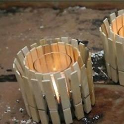 木夹子和小铁罐DIY制作花盆烛台的方法