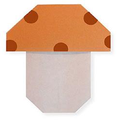 蘑菇折纸方法