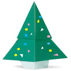 圣诞树折纸方法