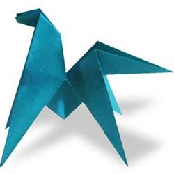 能翻跟斗小马的折纸方法