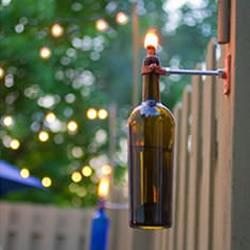 洋酒玻璃瓶手工DIY漂亮火炬