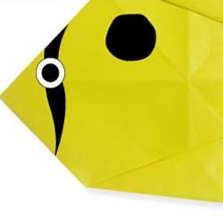 黄色小鱼折纸方法