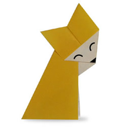 狐狸手工折纸方法