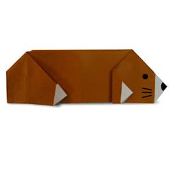 鼹鼠的折纸方法